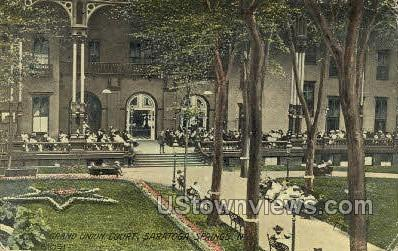 Grand Union Court - Saratoga Springs, New York NY Postcard