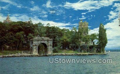 Boldt Castle's Famouns Arch of Honor - Thousand Islands, New York NY Postcard