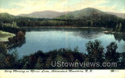 Mirror Lake - Adirondack Mts, New York NY Postcard