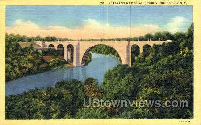 Veterans Memorial Bridge - Rochester, New York NY Postcard