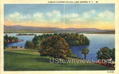 Diamond Island - Lake George, New York NY Postcard