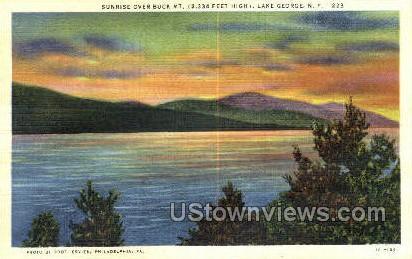 Buck Mountain - Lake George, New York NY Postcard