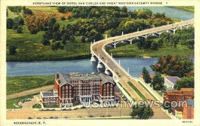 Western Gateway Bridge - Schenectady, New York NY Postcard