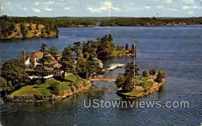 Zavikon Island - Thousand Islands, New York NY Postcard