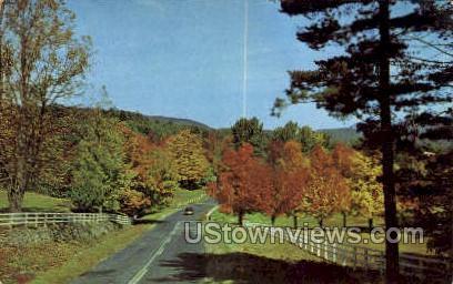 Autumn Serenade - Saranac Lake, New York NY Postcard
