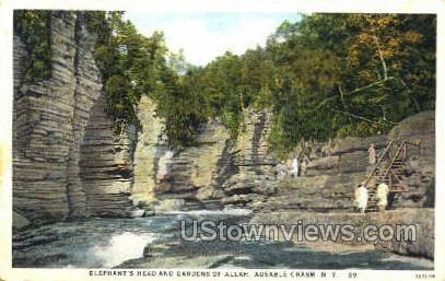 Gardens of Allah - Ausable Chasm, New York NY Postcard