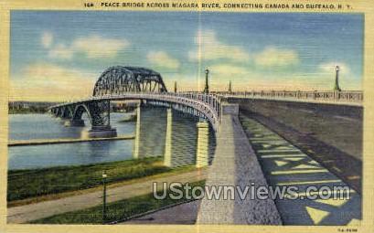 Peace Bridge - Buffalo, New York NY Postcard