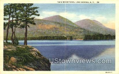 Twim Mountains - Lake George, New York NY Postcard