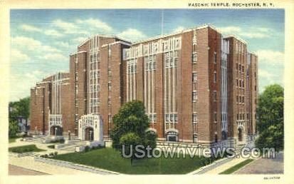 Masonic Temple - Rochester, New York NY Postcard