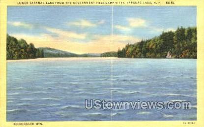 Adirondack Mts - Saranac Lake, New York NY Postcard