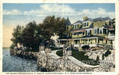 Ina Island, Residence A.T. Hage - Alexandria Bay, New York NY Postcard