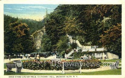 Indian Trail - Watkins Glen, New York NY Postcard