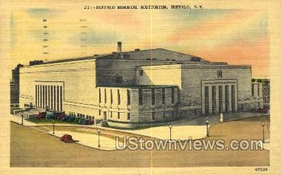 Buffalo Memorial Aud. - New York NY Postcard