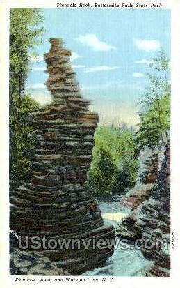 Pinnacle Rock - Watkins Glen, New York NY Postcard