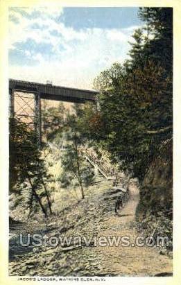 Jacob's Ladder - Watkins Glen, New York NY Postcard