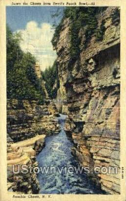 Devil's Punch Bowl - Ausable Chasm, New York NY Postcard