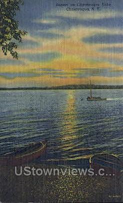Chautauqua Lake - New York NY Postcard