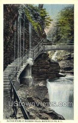 Flying Stairs - Watkins Glen, New York NY Postcard