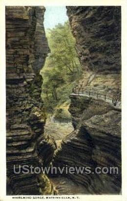 Whirlwind Gorge - Watkins Glen, New York NY Postcard