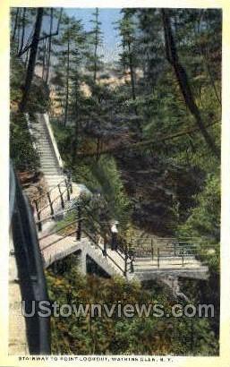 Point Lookout - Watkins Glen, New York NY Postcard