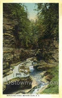Matchless Scene - Watkins Glen, New York NY Postcard