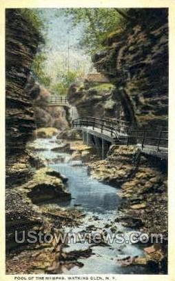 Pool of the Nymphs - Watkins Glen, New York NY Postcard