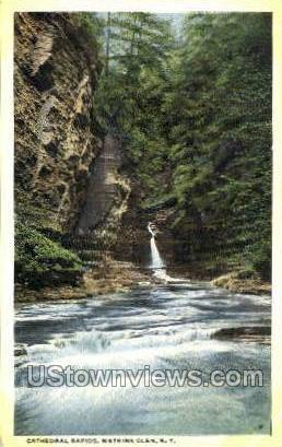 Cathedral Rapids - Watkins Glen, New York NY Postcard