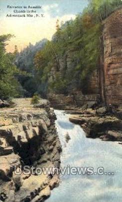 Adirondack Mts - Ausable Chasm, New York NY Postcard