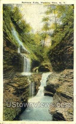 Rainbow Falls - Watkins Glen, New York NY Postcard