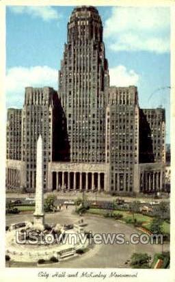 City Hall, McKinley Monument - Buffalo, New York NY Postcard
