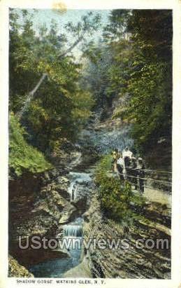Shadow Gorge - Watkins Glen, New York NY Postcard