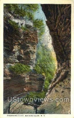 Frowning Cliff - Watkins Glen, New York NY Postcard