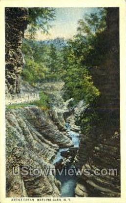 Artist Dream - Watkins Glen, New York NY Postcard