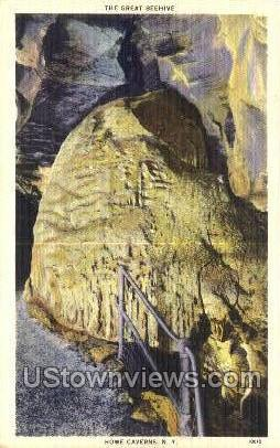 Great Beehive - Howe Caverns, New York NY Postcard