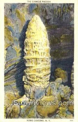 The Chinese Pagoda - Howe Caverns, New York NY Postcard
