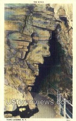 The Witch - Howe Caverns, New York NY Postcard