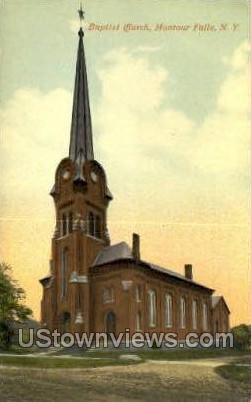 Baptist Church - Montour Falls, New York NY Postcard
