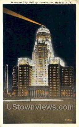 New City Hall - Buffalo, New York NY Postcard