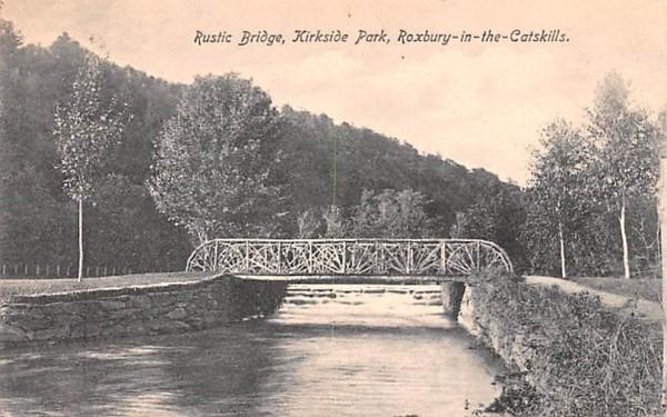Rustic Bridge Roxbury, New York Postcard