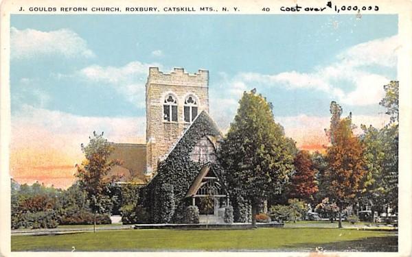 J Goulds Reformed Church Roxbury, New York Postcard