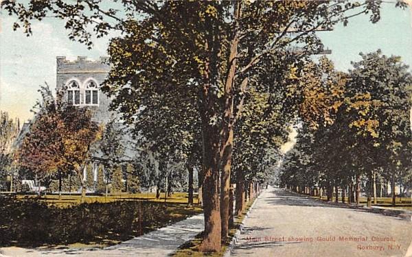Main Street Roxbury, New York Postcard