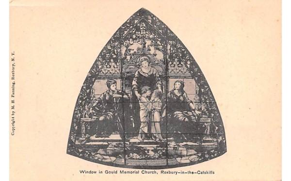 Window over Pipe Organ in Gould Memorial Church Roxbury, New York Postcard