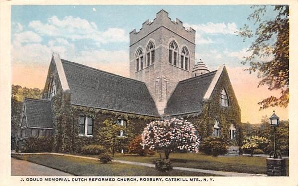 J Gould Memorial Dutch Reformed Church Roxbury, New York Postcard