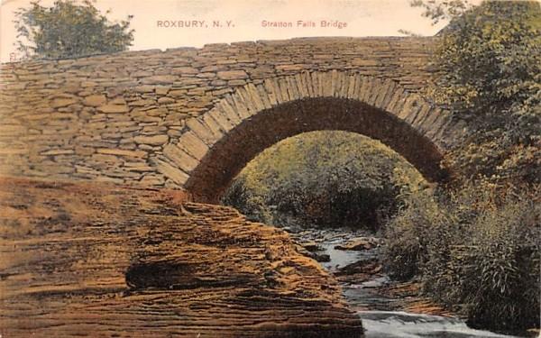 Stratton Falls Bridge Roxbury, New York Postcard