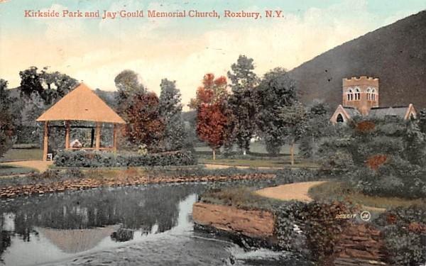 Kirkside Park & Jay Gould Memorial Church Roxbury, New York Postcard