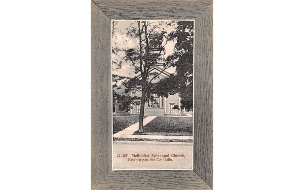 Methodist Episcopal Church Roxbury, New York Postcard