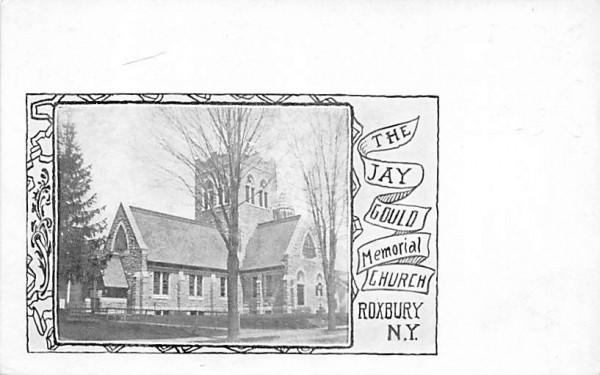 Jay Gould Memorial Church Roxbury, New York Postcard