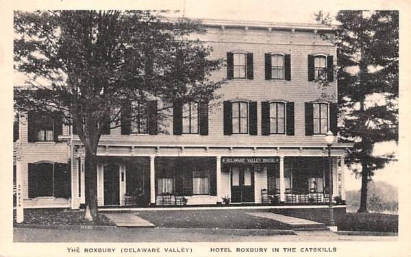The Roxbury Delaware Valley Hotel New York Postcard