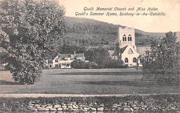 Gould Memorial Church Roxbury, New York Postcard