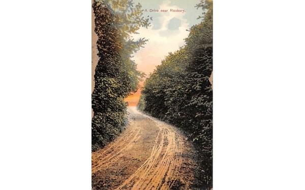Drive Roxbury, New York Postcard